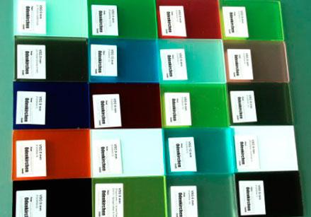 verschiedene Farben bei den PVB Folien